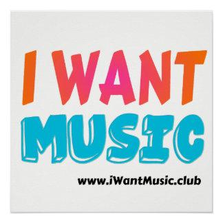 """Pôster Eu quero a música - 20"""" x 20"""" poster da arte da"""