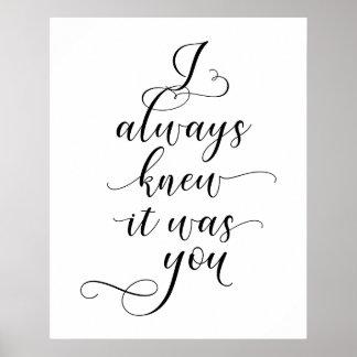 Poster Eu soube sempre que era você