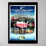 Poster EUA das viagens vintage
