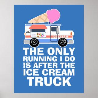 Pôster Exercício do caminhão do sorvete