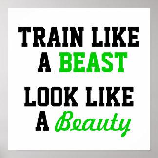 Pôster Exercício inspirador