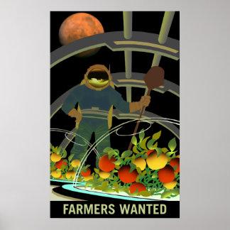 Poster Exploradores de Marte - os fazendeiros quiseram o