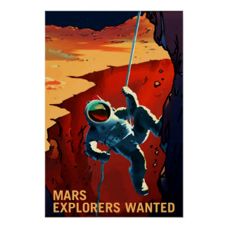 Poster Exploradores queridos na viagem a Marte, viagem