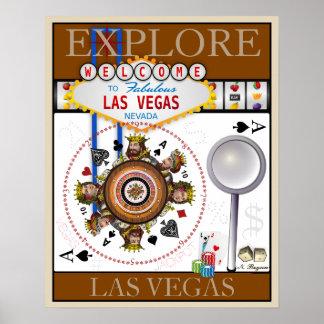Poster Explore Las Vegas