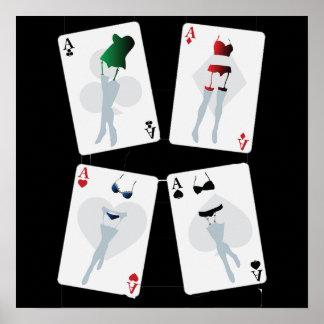 Poster extravagante dos cartões de jogo pôster