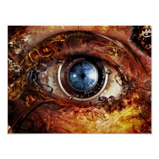 Poster EYE TECH STEAMPUNK