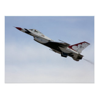 Pôster F-16 Thunderbird em vôo