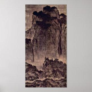 Pôster Fã Kuan - viajantes entre montanhas e córregos