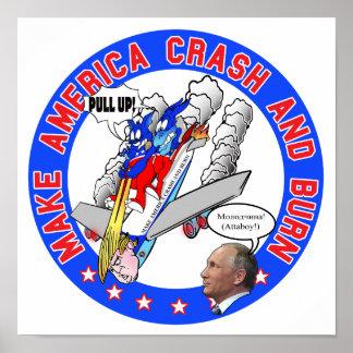 Poster Faça América deixar de funcionar & queimar-se