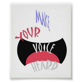 Poster Faça seu mini ouvido voz