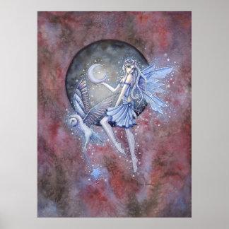 Poster Fada do coletor da estrela e arte da fantasia da