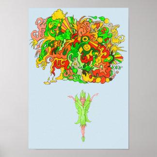 Poster Fada verde da alegria