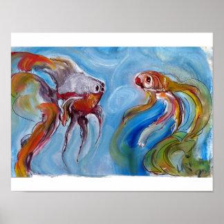 Poster Fala de dois peixes