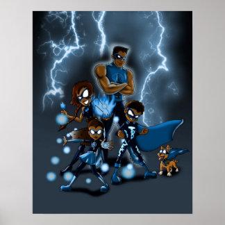 Poster Família dos super-herói