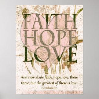 Poster Fé, esperança e amor