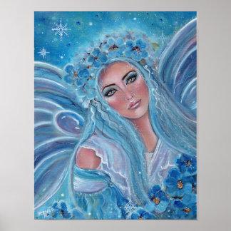 Poster feericamente azul gelado de Krysta por