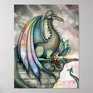 Poster feericamente do dragão do protetor por Moll