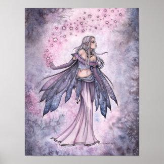 Poster feericamente roxo capturado da arte do céu
