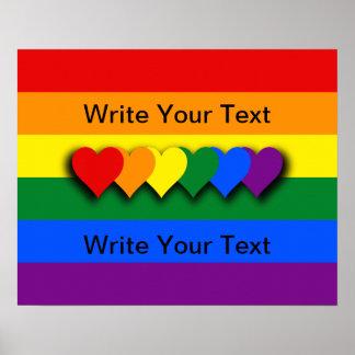 Poster feito sob encomenda da bandeira de LGBT