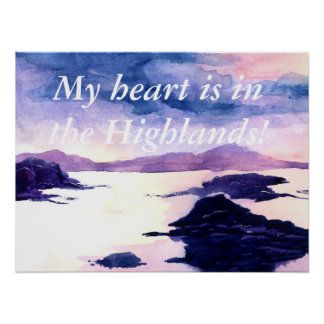 Poster feito sob encomenda escocês da pintura do