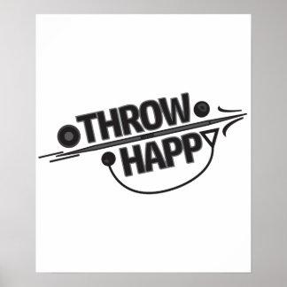 Poster feliz do atletismo do lance