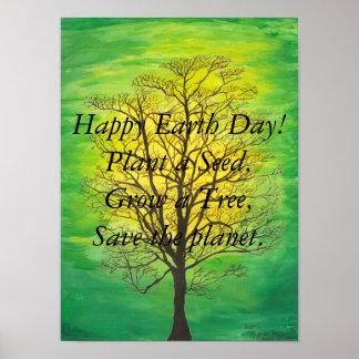 Poster feliz do Dia da Terra