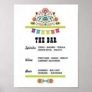 Pôster Festa o chá do noivado do sinal do evento do