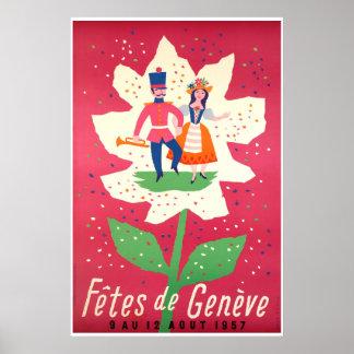Pôster Fêtes de Genève 1957