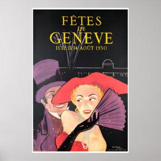 Pôster Fêtes de Genève, Août 1950