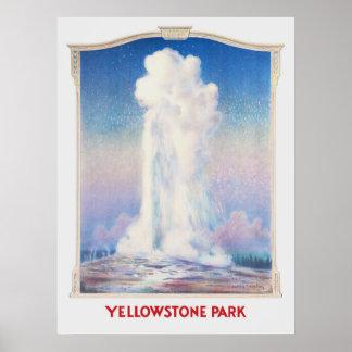 Poster fiel velho de Yellowstone