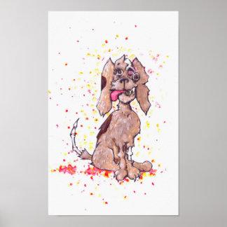 Poster Filhote de cachorro do zombi