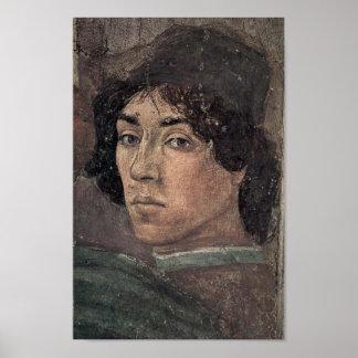 Poster Filippino Lippi - Auto-retrato do artista