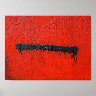 Pôster Fim moderno abstrato da arte dos grafites acima