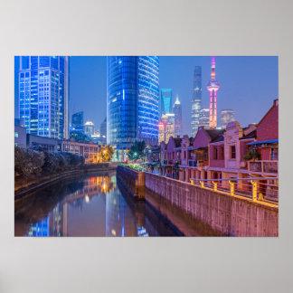 Poster financeiro do distrito de Shanghai