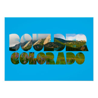 Pôster Flairons, Boulder Colorado