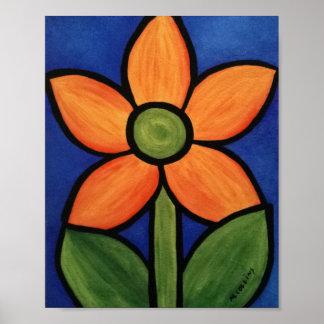 Poster Flor alaranjada simples