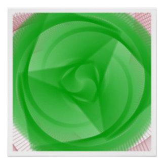 Pôster flor verde