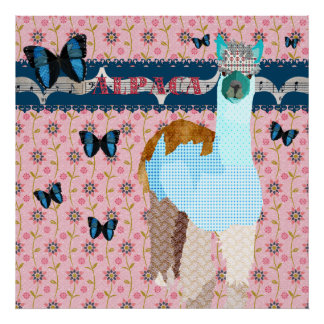 Poster floral do rosa das borboletas de Boho da al