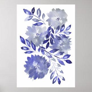 Pôster flowers2 pintado mão