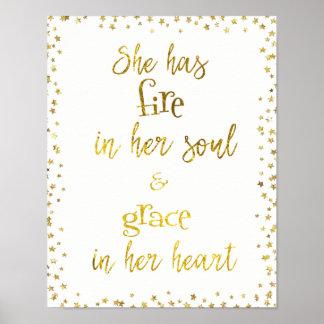 Pôster Fogo do ouro em sua alma; Benevolência em suas