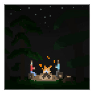 Poster Fogueira do pixel