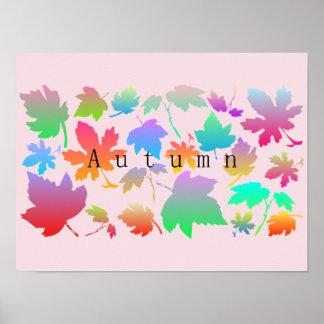 Poster Folhas de outono coloridas