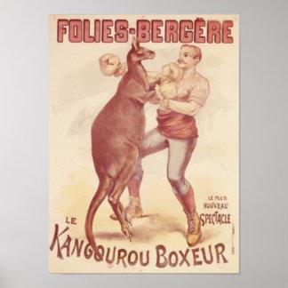 Poster Folies Bergere -- Cangurus do encaixotamento