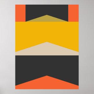 Poster Formas geométricas da arte abstracta moderna do