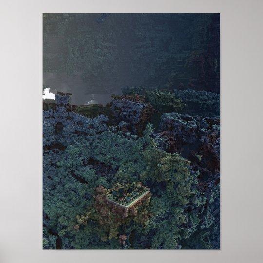 Poster Fortress 3D Fractal