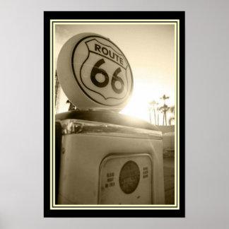 Pôster Foto 13 x 19 da bomba de gás da rota 66