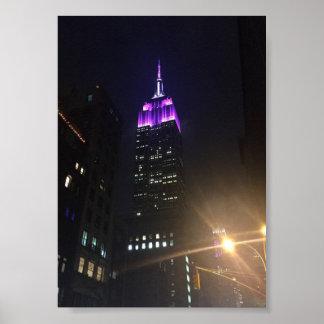 Pôster Foto da Nova Iorque NYC do Empire State Building