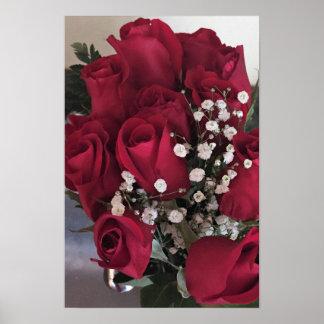 Poster Foto das rosas vermelhas