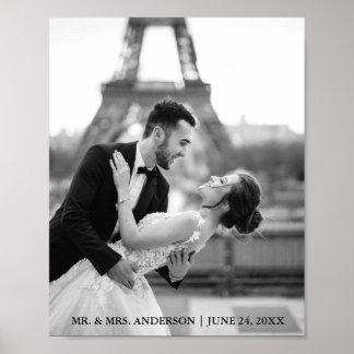 Pôster Foto elegante e moderna do casamento