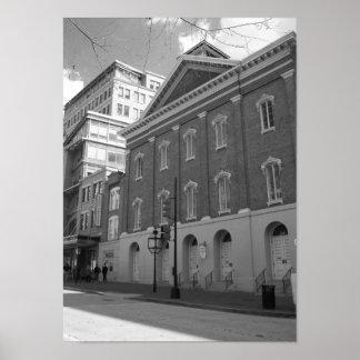 Pôster Foto preto e branco do Washington DC do teatro de